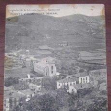 Postales: ANTIGUA POSTAL DE PUENTE VIESGO - CANTABRIA - VISTA GENERAL - PROPIEDAD DE LA LIBRERIA GENERAL DE S. Lote 38263362