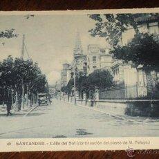 Postales: ANTIGUA POSTAL DE SANTANDER - N. 49 - CALLE DEL SOL - ED. HELITIOPIA ARTISTICA ESPAÑOLA - NO CIRCULA. Lote 38266006
