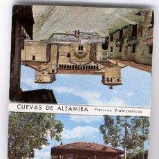 Postales: CUEVAS DE ALTAMIRA - PINTURAS PREHISTORICAS. ACORDEON DE 12 MINI-POSTALES.. Lote 40412098