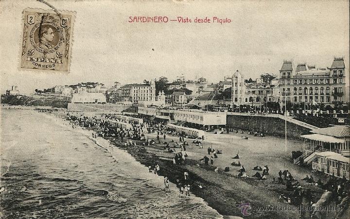 SARDINERO.VISTA DESDE PIQUIO (Postales - España - Cantabria Antigua (hasta 1.939))