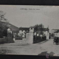 Postales: ANTIGUA POSTAL DE LIMPIAS. CANTABRIA. CALLE DEL AMOR. SIN CIRCULAR. Lote 41257397