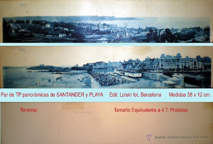 PAR DE T.P. PANORÁMICAS DE SANTANDER, MISMO EDITOR. PPIOS. SIGLO XX. (Postales - España - Cantabria Moderna (desde 1.940))