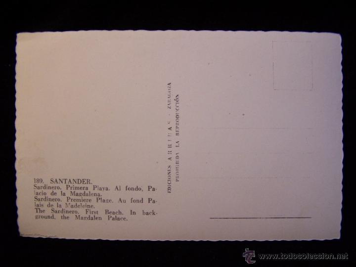 Postales: Postal fotográfica Palacio Magdalena sin circular Ediciones ARRIBAS Zaragoza Serie 189 Santander - Foto 2 - 41323804