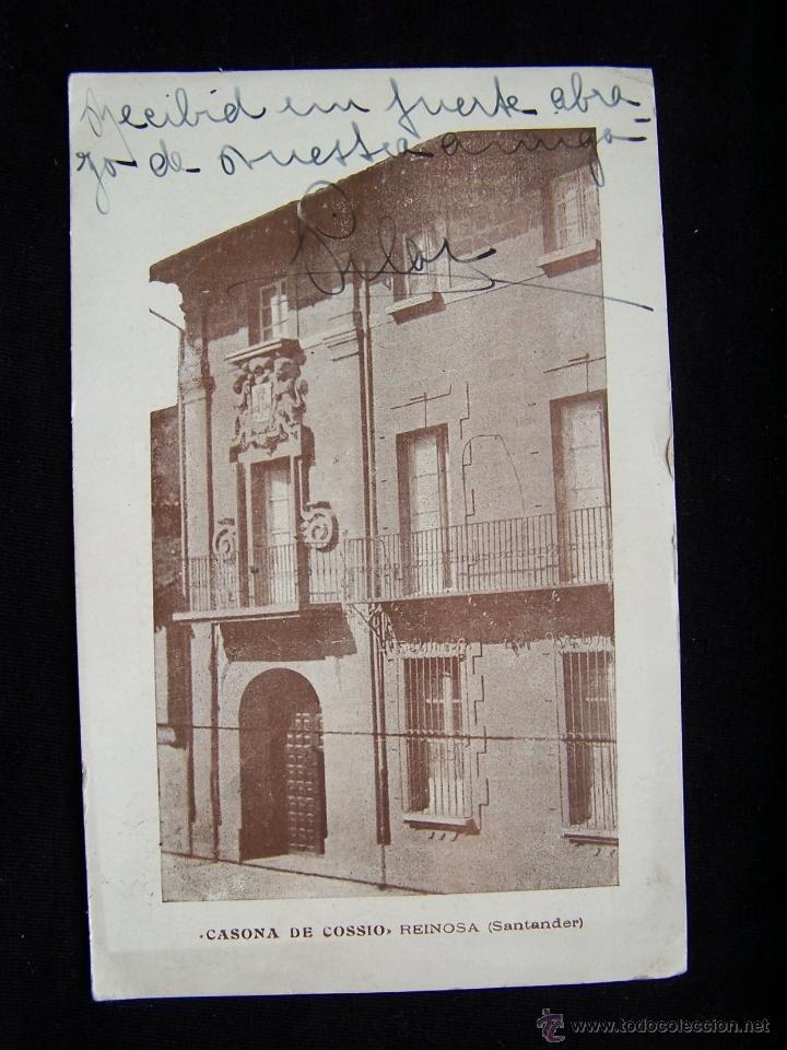 POSTAL ANTIGUA CIRCULADA CASONA DE COSSIO REINOS SANTANDER (Postales - España - Cantabria Antigua (hasta 1.939))
