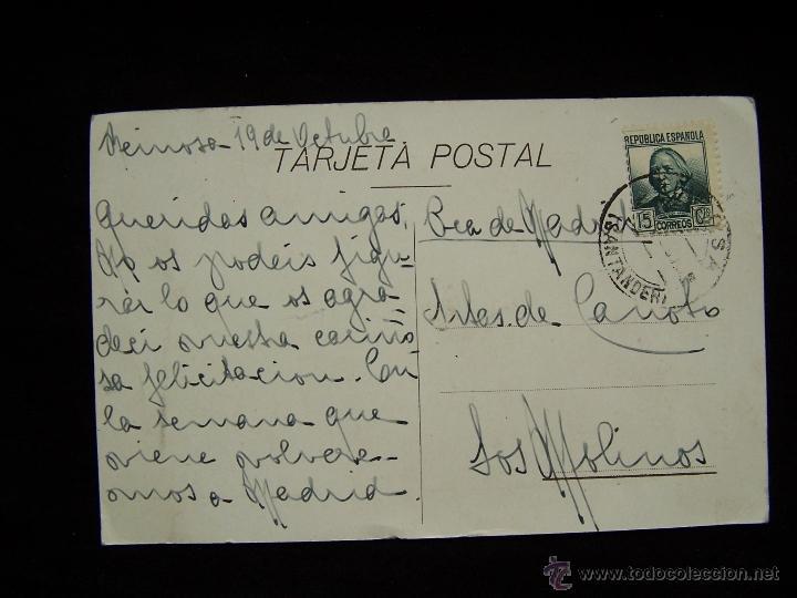 Postales: Postal antigua circulada Casona de Cossio Reinos Santander - Foto 2 - 41336040