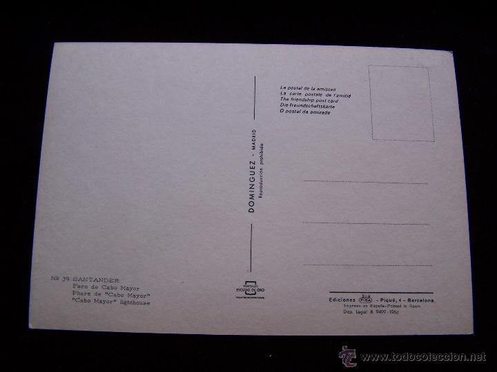 Postales: Postal sin circular Ed Fisa Postales Escudo de Oro serie nº 39 Faro de Cabo Mayor Santander - Foto 2 - 41692919