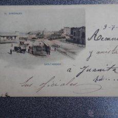 Postales: SANTANDER EL SARDINERO POSTAL MUY ANTIGUA COLOREADA. Lote 41737143