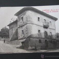 Postales: POSTAL CANTABRIA. LIMPIAS. BARRIO DEL RIVERO. CASA DE ALVARADO. . Lote 42207465