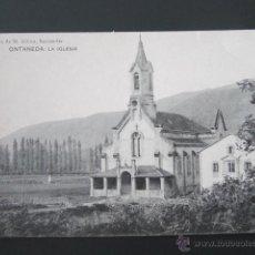 Postales: POSTAL CANTABRIA. ONTANEDA. LA IGLESIA. . Lote 42207909