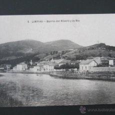 Postales: POSTAL CANTABRIA. LIMPIAS. BARRIO DEL RIBERO Y LA RÍA. . Lote 42208094
