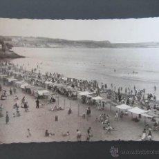 Postales: POSTAL CANTABRIA. SANTANDER. PRIMERA PLAYA. CIRCULADA, CORREO AÉREO. AÑO 1956.. Lote 42221167