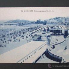 Postales: POSTAL CANTABRIA. SANTANDER. SARDINERO. PRIMERA PLAYA. . Lote 42221267