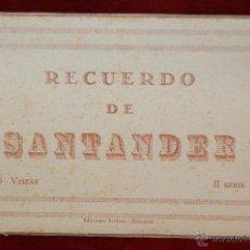 Postales: ALBUM DE POSTALES RECUERDO DE SANTANDER. 2ª SERIE. 10 VISTAS. Lote 42397992