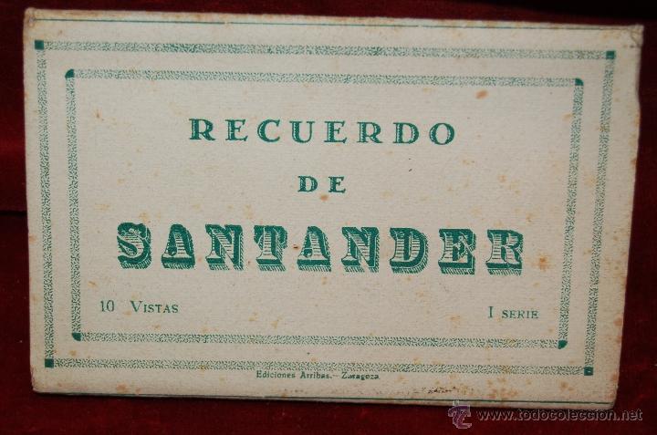 ALBUM DE POSTALES RECUERDO DE SANTANDER. 1ª SERIE. 10 VISTAS (Postales - España - Cantabria Antigua (hasta 1.939))