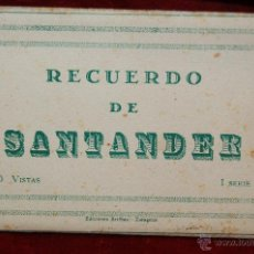 Postales: ALBUM DE POSTALES RECUERDO DE SANTANDER. 1ª SERIE. 10 VISTAS. Lote 42398084