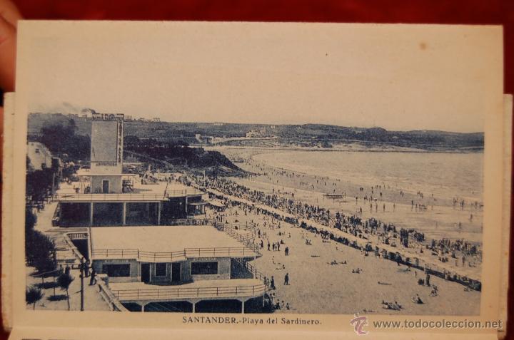 Postales: ALBUM DE POSTALES RECUERDO DE SANTANDER. 1ª SERIE. 10 VISTAS - Foto 8 - 42398084
