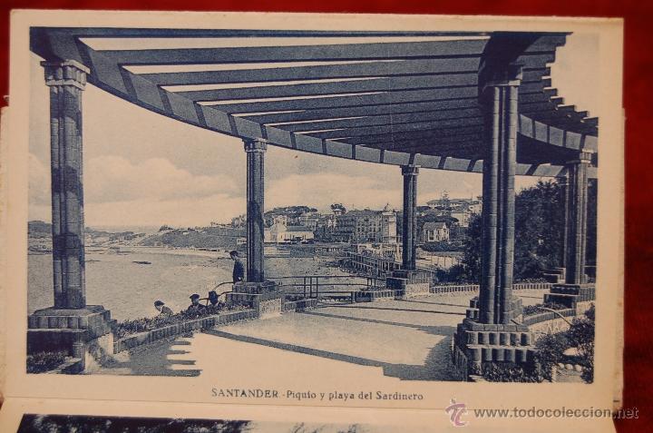 Postales: ALBUM DE POSTALES RECUERDO DE SANTANDER. 1ª SERIE. 10 VISTAS - Foto 11 - 42398084