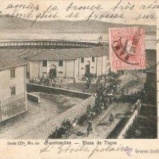 Postales: SANTANDER Nº 10 PLAZA DE TOROS PROPIEDAD DE S. CUEVAS CIRCULADA EN 1904. Lote 42596891
