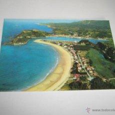 Postales: POSTAL-RIBADESELLA-ASTURIAS-VISTA GENERAL DE LA PLAYA-1960?.. Lote 42652158