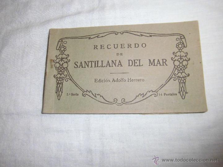RECUERDO DE SANTILLANA DEL MAR EDICIONES ADOLFO HERRERO 2ª SERIE 14 POSTALES FALTA UNA (Postales - España - Cantabria Antigua (hasta 1.939))