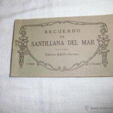 Postales: RECUERDO DE SANTILLANA DEL MAR EDICIONES ADOLFO HERRERO 2ª SERIE 14 POSTALES FALTA UNA . Lote 42959781