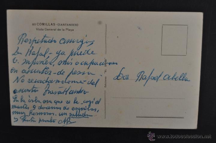 Postales: FOTO POSTAL DE COMILLAS. CANTABRIA. VISTA GENERAL DE LA PLAYA. ESCRITA - Foto 2 - 43323089