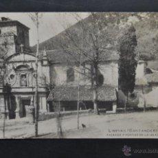 Postales: ANTIGUA POSTAL DE LIMPIAS. SANTANDER. FACHADA Y PORTICO DE LA IGLESIA. SIN CIRCULAR. Lote 43323189