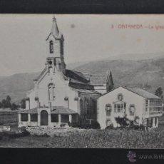 Postales: ANTIGUA POSTAL DE ONTANEDA. CANTABRIA. LA IGLESIA. SIN CIRCULAR. Lote 43339427