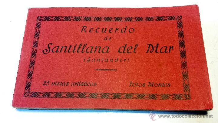 ALBUM POSTALES RECUERDO DE SANTILLANA DEL MAR. CON 25 POSTALES. VER (Postales - España - Cantabria Moderna (desde 1.940))