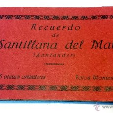 Postales: ALBUM POSTALES RECUERDO DE SANTILLANA DEL MAR. CON 25 POSTALES. VER. Lote 43342757