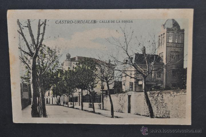 ANTIGUA POSTAL DE CASTRO URDIALES. CANTABRIA. CALLE DE LA RONDA. ED. C. DIEZ. SIN CIRCULAR (Postales - España - Cantabria Antigua (hasta 1.939))