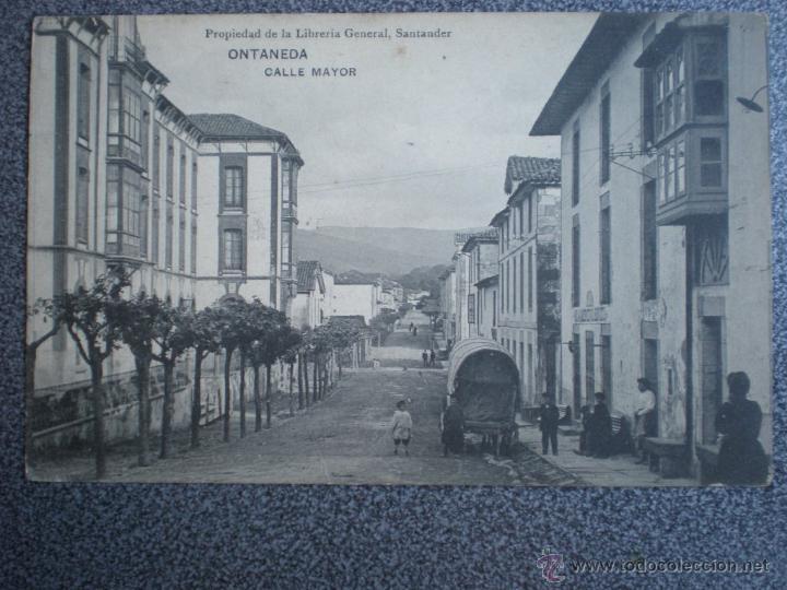 ONTANEDA SANTANDER CALLE MAYOR POSTAL ANTIGUA (Postales - España - Cantabria Antigua (hasta 1.939))