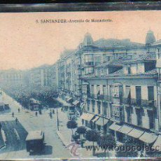 Postales: TARJETA POSTAL DE SANTANDER, CANTABRIA - AVENIDA DE MONASTERIO. 5.. Lote 43660687