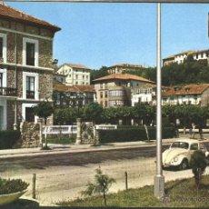 Postales: SAN VICENTE DE LA BARQUERA - PLAZA DEL MERCADO Y HOTEL MANILA. Lote 43807477
