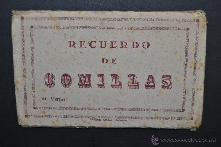 TIRA POSTAL RECUERDO DE COMILLAS. CANTABRIA. ED. ARRIBAS. 10 TARJETAS (Postales - España - Cantabria Antigua (hasta 1.939))