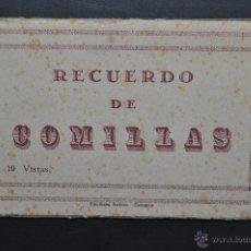 Postales: TIRA POSTAL RECUERDO DE COMILLAS. CANTABRIA. ED. ARRIBAS. 10 TARJETAS. Lote 44036321