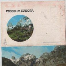 Postales: POSTALES-LIBRITO SOBRE PICOS DE EUROPA (VER FOTOS). Lote 44188279