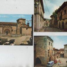Postales: POSTALES-LOTE DE 5 TARJETAS DE SANTILLANA DEL MAR (VER FOTOS). Lote 44188507