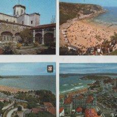 Postales: POSTALES-LOTE DE 4 TARJETAS DE SANTANDER. Lote 44188568