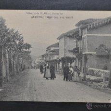 Postales: ANTIGUA POSTAL DE ALCEDA. CANTABRIA. CALLE DE AVE MARIA. FOTPIA. HAUSER Y MENET. CIRCULADA. Lote 44236902