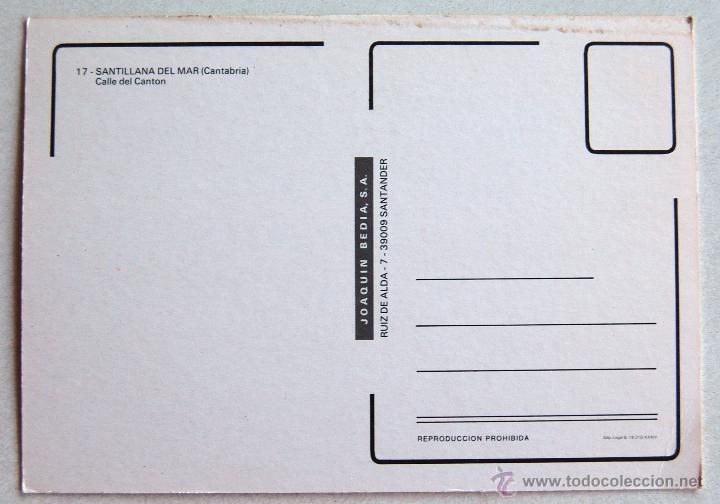 Postales: POSTAL DE SANTILLANA DEL MAR (CANTABRIA). - Foto 2 - 44295219