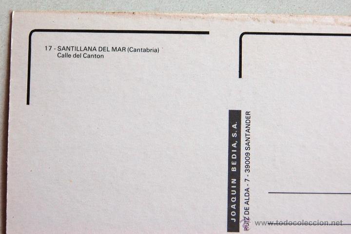 Postales: POSTAL DE SANTILLANA DEL MAR (CANTABRIA). - Foto 3 - 44295219