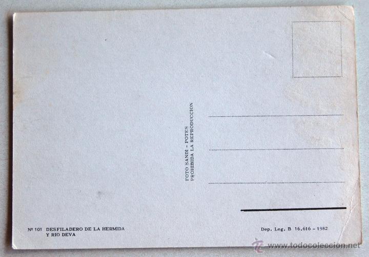Postales: POSTAL DEL DESFILADERO DE LA HERMIDA Y RIO DEVA (CANTABRIA). - Foto 2 - 44295734