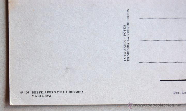 Postales: POSTAL DEL DESFILADERO DE LA HERMIDA Y RIO DEVA (CANTABRIA). - Foto 3 - 44295734