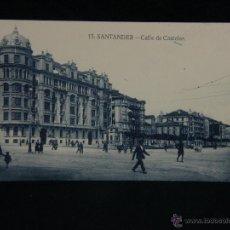 Postales: POSTAL SIN CIRCULAR 13 SANTANDER CALLE DE CASTELAR COCHES ANTIGUOS 14X9 CM . Lote 44687469