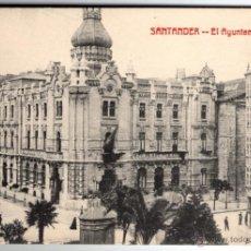 Postales: ANTIGUA POSTAL DE SANTANDER - EL AYUNTAMIENTO. Lote 45102605