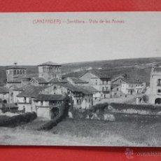 Postales: ANTIGUA POSTAL DE SANTILLANA. CANTABRIA. VISTA DE LAS ARENAS. FOTPIA. CASTAÑEIRA. SIN CIRCULAR. Lote 45234986