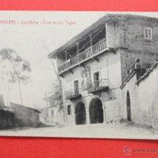 Postales: ANTIGUA POSTAL DE SANTILLANA. CANTABRIA. CASA DE LOS TAGLES. FOTPIA. CASTAÑEIRA. SIN CIRCULAR. Lote 45235139