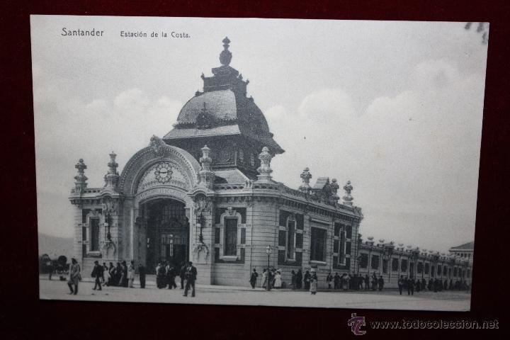 ANTIGUA POSTAL DE SANTANDER. CANTABRIA. ESTACION DE LA COSTA. SIN CIRCULAR (Postales - España - Cantabria Antigua (hasta 1.939))
