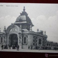 Postales: ANTIGUA POSTAL DE SANTANDER. CANTABRIA. ESTACION DE LA COSTA. SIN CIRCULAR. Lote 45235590